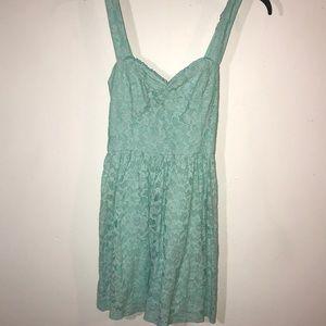 Blue Hollister Floral-Lace Dress